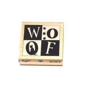 Wood Mounted Stamp WOOF For Scrapbooking, Card Making