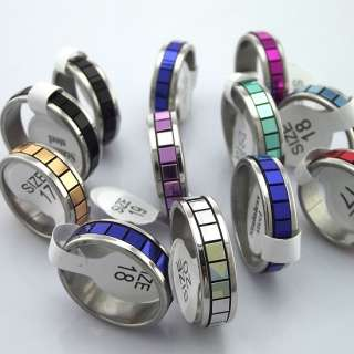 lot 50pcs mixed stainless steel ring women men jewelry