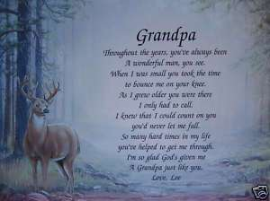 PERSONALIZED GRANDPA POEM BIRTHDAY OR FATHERS DAY GIFT