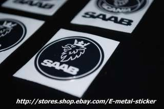 SAAB SCANIA metal decal sticker silver emblem 4 pcs set