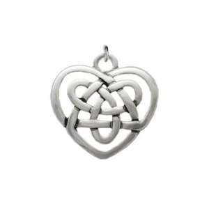 Silver Plated, Celtic Knot Heart, Charm, Qty.1 Everything