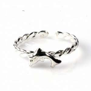 STERLING SILVER TOE RING   2mm Dolphin Jewelry