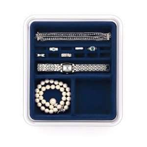 Jewelry Stax Rings and Things Organizer, Midnight Blue