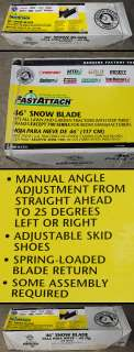 NIB* 46 Snow Plow Blade for Lawn Tractors Riding Mowers MTD Troy