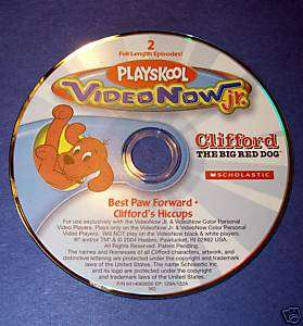 VIDEO NOW JR CLIFFORD RED DOG BEST PAW HICCUPS PVD DISC