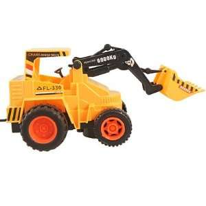 Orange Black Plastic Wire Control Bulldozer Truck Toy Toys & Games