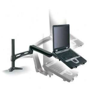 Desk Mount Notebook Arm,Up to 20 lb,Adjustable,Black   ARM