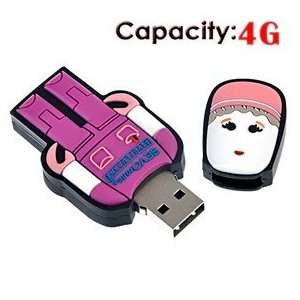 4G USB Flash Drive with Rubber Robot Doctor Shape (Red