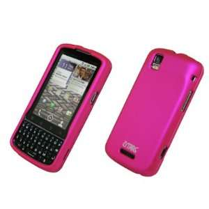 EMPIRE Hot Pink Rubberized Snap On Cover Case for Verizon