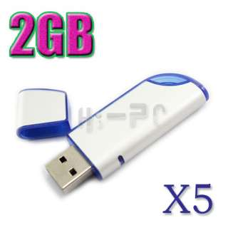 LOT 5 2GB Knife USB Flash Memory Stick Drive Fold Pen