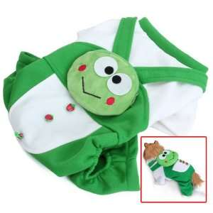 Green Frog Pet Dog Coat JumpSuit w/ Backpack   XL