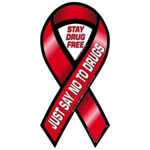 Just Say No To Drugs Awareness 2 in 1 Ribbon Magnet