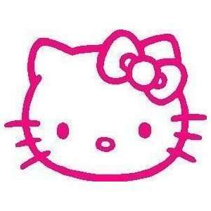 1 X Hello Kitty Racing Car Decal Sticker (New) Pink Size