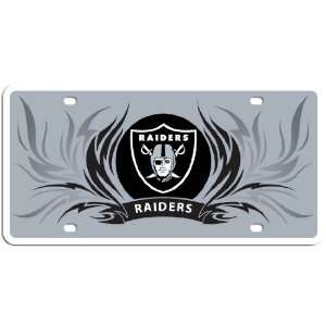 Oakland Raiders Flame License Styrene NFL Plate Car Sign