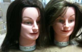 Lot 7 Used Cosmetology Mannequin Heads (5 Lori Kin and 1 Debra) Brown