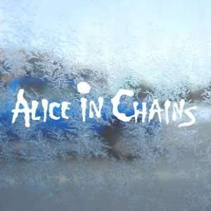Alice In Chains White Decal Car Laptop Window Vinyl White