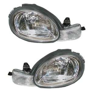 00 02 Plymouth/Dodge Neon Chrome Bezel Headlights Headlamps Head Light