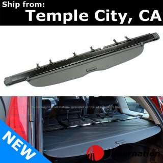 SUV CRV CR V 07 11 Gray PVC Top Rear Trunk Cargo Cover Divider Factory