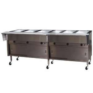Eagle PHT6CB 240 6 Well Portable Electric Hot Food Table