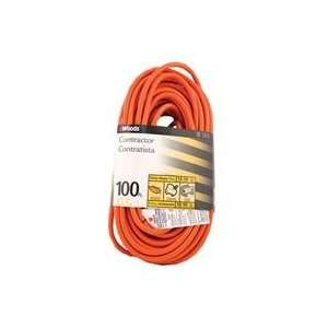 HEAVY DUTY EXTENSION CORD, Color ORANGE; Size 100 FEET