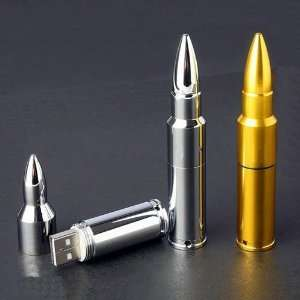 High Quality 16 GB bullet shape USB Flash drive   golden Electronics