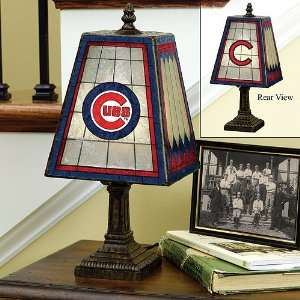 Chicago Cubs 14 Art Glass Table Lamp