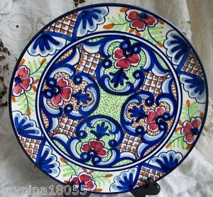 Hand Painted Signed marked Pintado A Mano Pottery Plate