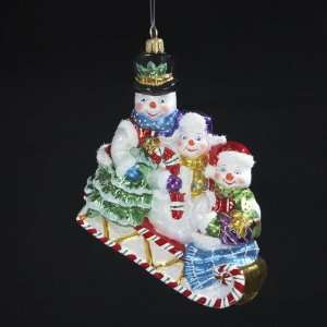 in Candy Cane Sleigh Polonaise Christmas Ornament 5