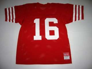 SAN FRANCISCO 49ers JOE MONTANA Vintage SAND KNIT NFL Football Jersey