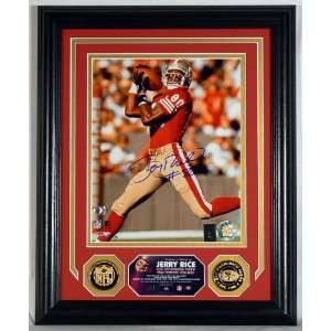 Jerry Rice Autographed 49ErS Photomint Sports