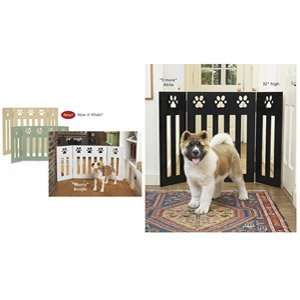 Paw Print Wood Pet Gate