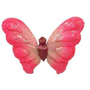Pink Butterfly Glass Polonaise Christmas Ornament