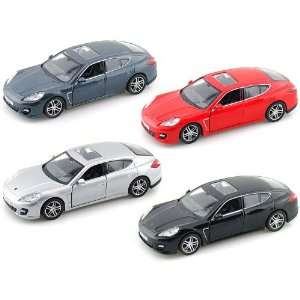 Set of 4   Porsche Panamera Turbo 1/36 Toys & Games
