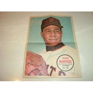1967 Topps JUAN MARICHAL San Francisco Giants #28 Pin Up