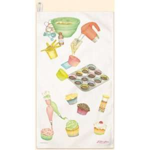 Fiddlers Elbow CUPCAKES TOWEL Single Towel Kitchen