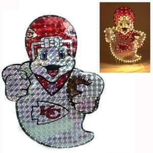 Kansas City Chiefs 44 Lighted Ghost Halloween Lawn Figure