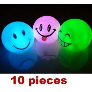 10pcs funny happy face shape LED Lamp color changing LED