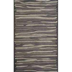 Trans Ocean Gallia Stripes Charcoal 308248 Contemporary 8 x 10 Area
