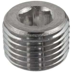Parker Stainless Steel 316 Pipe Fitting, Hollow Hex Plug, 1/4 NPT
