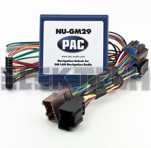 NU GM29 FACTORY GM NAV RADIO BLUETOOTH UNLOCK INTERFACE