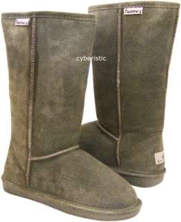 Womens Bearpaw Emma Loden Green Smoke Tall Boots Shoes