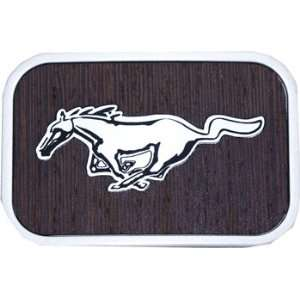 Official FORD MUSTANG Logo Belt Buckle WOOD Grain