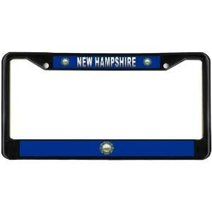New Hampshire NH State Flag Black License Plate Frame