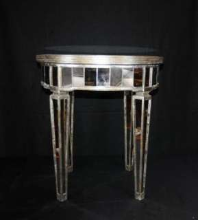 Mirrored Side Table Art Deco Cocktail Table Mirror Furniture