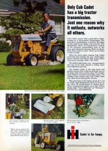 1969 International Cub Cadet Mini Tractor Original Ad