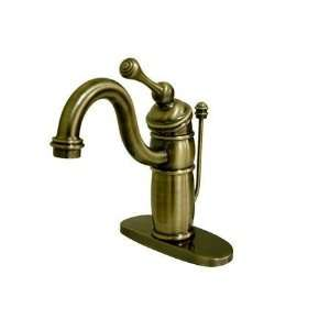 Lavatory Faucet with Brass Pop up Drain KB1403BL, Vint