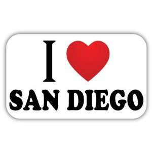 I Love SAN DIEGO Car Bumper Sticker Decal 5 X 3