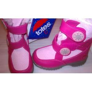 Totes Kids Pink 2 tone Fur Lined Boots Little Girl Size 7