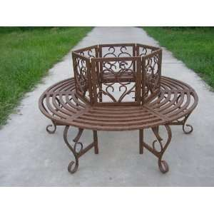 Oakland Living Scroll Tree Bench Patio, Lawn & Garden