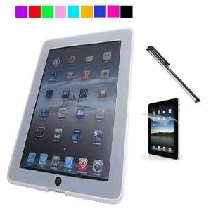 iPad Silicone Skin Case + Silver Stylus for Apple iPad